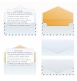 Mail open and closed set vector image