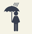 man with umbrella icon vector image vector image