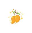mango in flat style mango logo mango icon vector image vector image