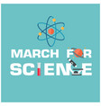 march for science atom icon science instruments ba vector image