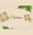 merry christmas background minimal design with vector image vector image