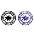 microbe danger trends stamp with dust style vector image vector image
