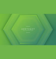 modern green hexagon background with 3d style vector image vector image