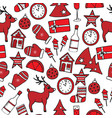 new year seamless pattern in red and white colors vector image vector image