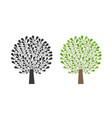 ornamental tree logo nature garden ecology vector image