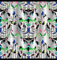 paisley seamless pattern floral white vector image