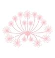 Pastel pink silhouette dandelion with pistils vector image