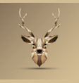 polygonal low poly deer design vector image