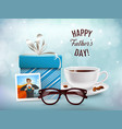 present for daddy composition vector image vector image