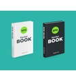 realistic black and white books on green vector image vector image
