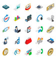 ring icons set isometric style vector image vector image