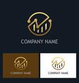 round business finance progress logo vector image vector image