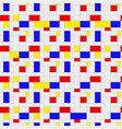 seamless pattern colorful background in mondrian vector image vector image