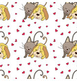 seamless pattern with funny dog vector image vector image
