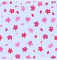seamless pattern with sakura flowers graphics vector image