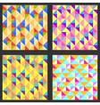 set four geometric pattern texture vector image vector image