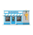 shop building or commercial property with key vector image vector image