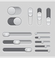 slider bars set gray volume level console vector image