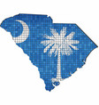 south carolina map with flag inside vector image vector image