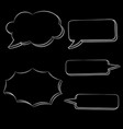 speech bubbles white hand drawn sketch on black vector image vector image