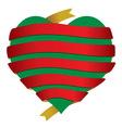 Srce bannerFinal sa srcem vector image vector image