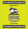 street food festival design poster vector image vector image
