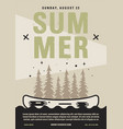 summer camp flyer a4 format canoe adventure vector image vector image