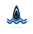 surf icon water in blue color vector image vector image