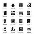 sweet home glyph icons vector image vector image