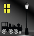 tram with street light color vector image