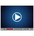 video player eps 10 vector image vector image