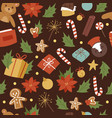 vintage cartoon seamless pattern for merry vector image