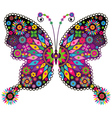vivid colorful butterfly vector image vector image