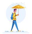 walk in rainy day flat vector image vector image