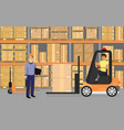 warehousing goods and vector image vector image