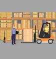 warehousing goods vector image