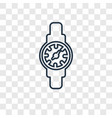watch concept linear icon isolated on transparent vector image