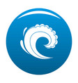 wave water surfing icon blue vector image vector image