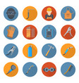 welding industry cartoon icon set vector image vector image