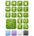Ecology and environment buttons set vector image