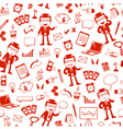 business pattern vector image