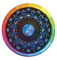 Earth and Zodiac Signs Mandala vector image