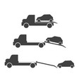a set of car evacuation icons vector image