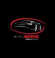 automotive logo design vector image vector image