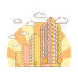 autumn city view with high buildings clouds vector image vector image