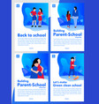 back to school cover books or pdf vector image vector image
