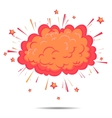 Boom cloud of Comic Pop Art style vector image