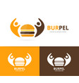 burger and people logo combination vector image vector image