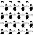 cartoon bear seamless pattern vector image vector image