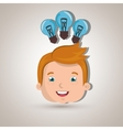 child student idea bulb vector image vector image